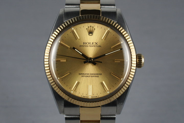1988 Rolex Two Tone Oyster Perpetual 1005 with Box and Papers photo