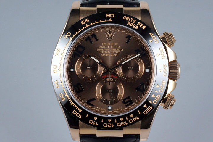 2012 Rolex RG Daytona 116515 Chocolate Arabic Dial with Box and Papers photo