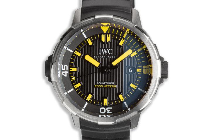2017 IWC Aquatimer IW358001 with Box & Card photo