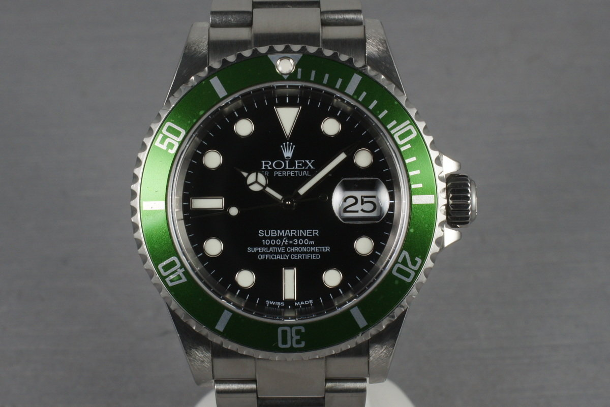 Rolex Green Submariner 16610 LV Mark 1 Dial and Flat 4 Bezel photo, #0