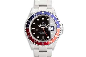 "2005 Rolex GMT-Master II 16710 ""Pepsi"" with Box and Service Card photo"