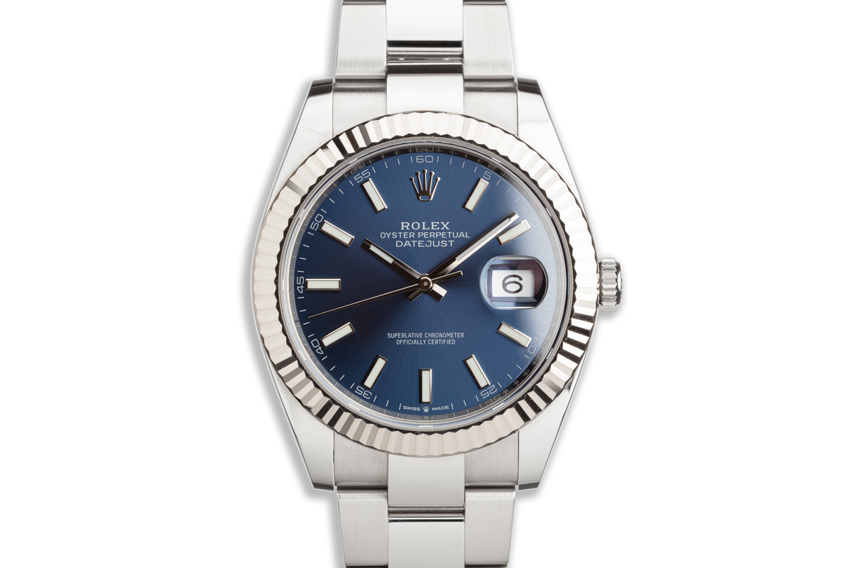 2020 Rolex 41mm DateJust 126334 Blue Dial with Box and Card photo, #0