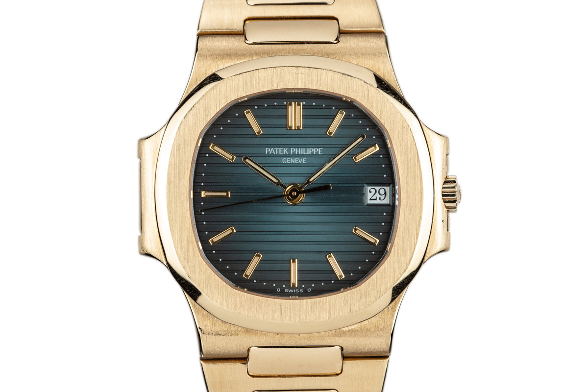 1992 18L YG Patek Phlippe Nautilus 3800/1 with Box and Extract from the Archives photo, #0