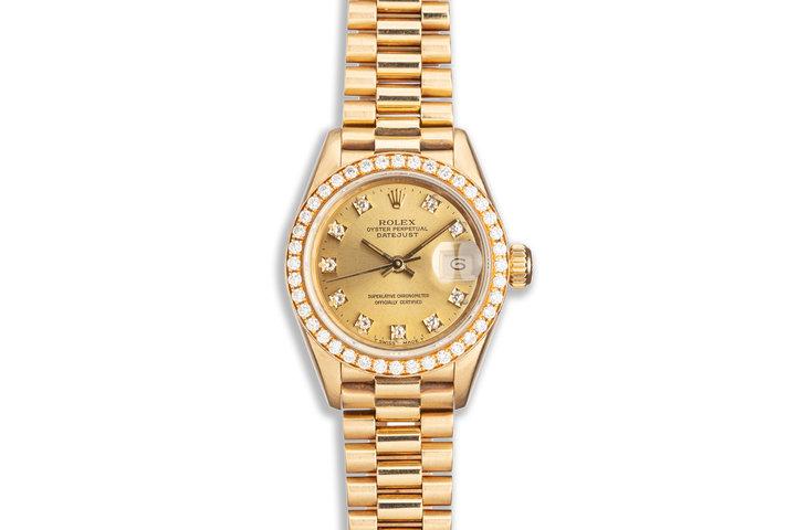 1990 Rolex Ladies President 69138 with Factory Diamond Bezel & Dial photo