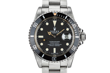 1984 Rolex Submariner 16800 with Box and Papers photo