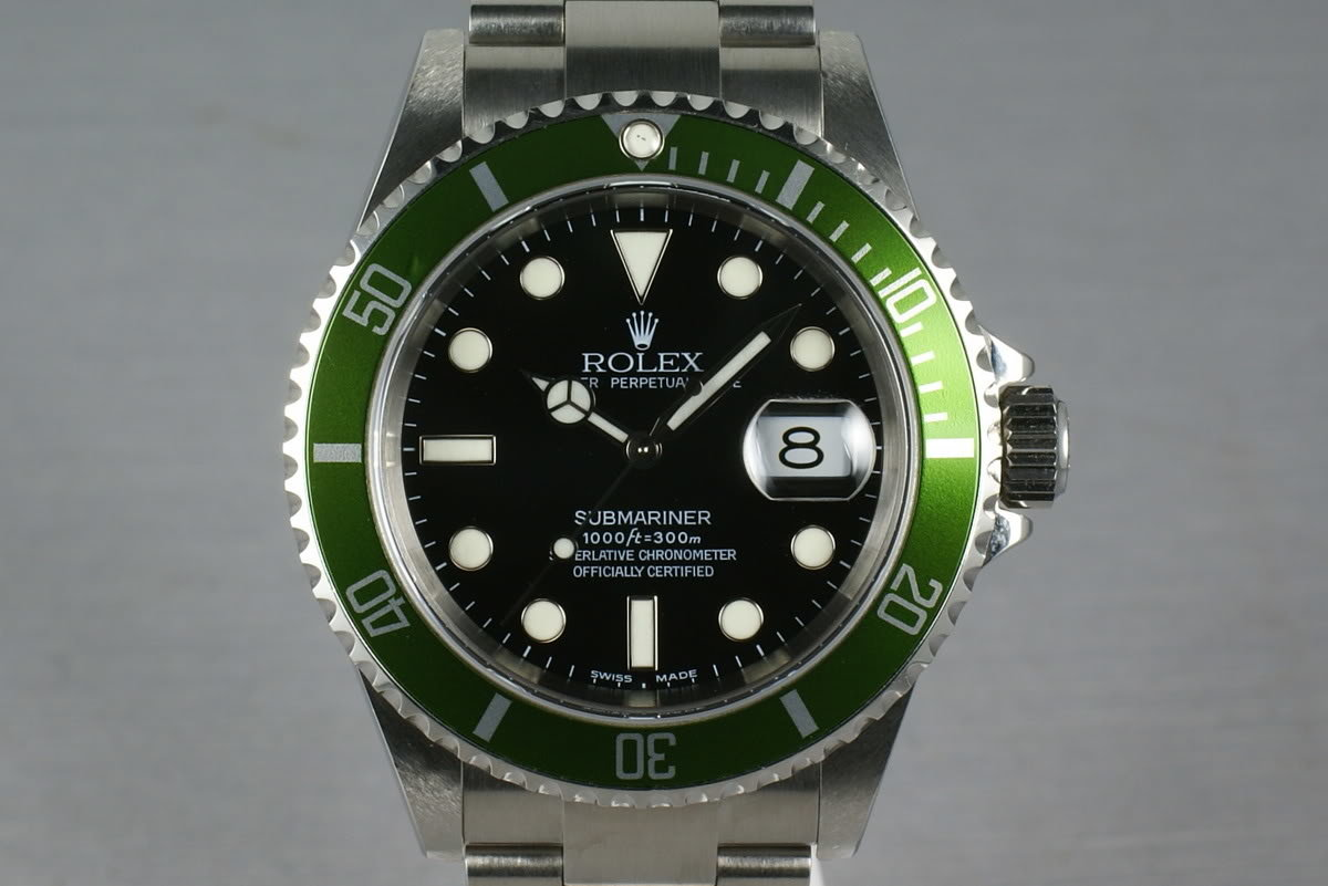 Rolex Green Submariner 16610 LV Mark 1 dial with Box and Papers photo, #0