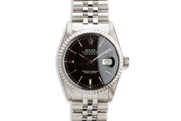 1980 Vintage Rolex Datejust 16030 Black Dial photo