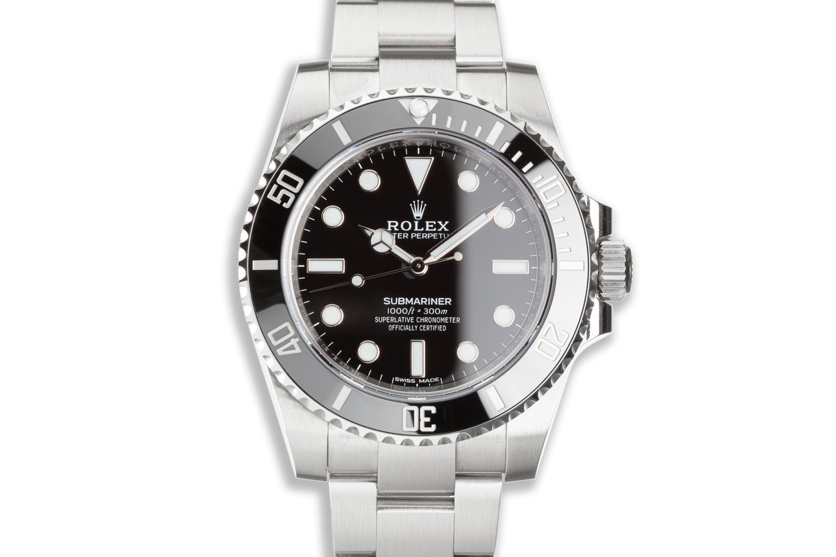 2020 Rolex Submariner No-Date 114060 with Box and Card photo, #0