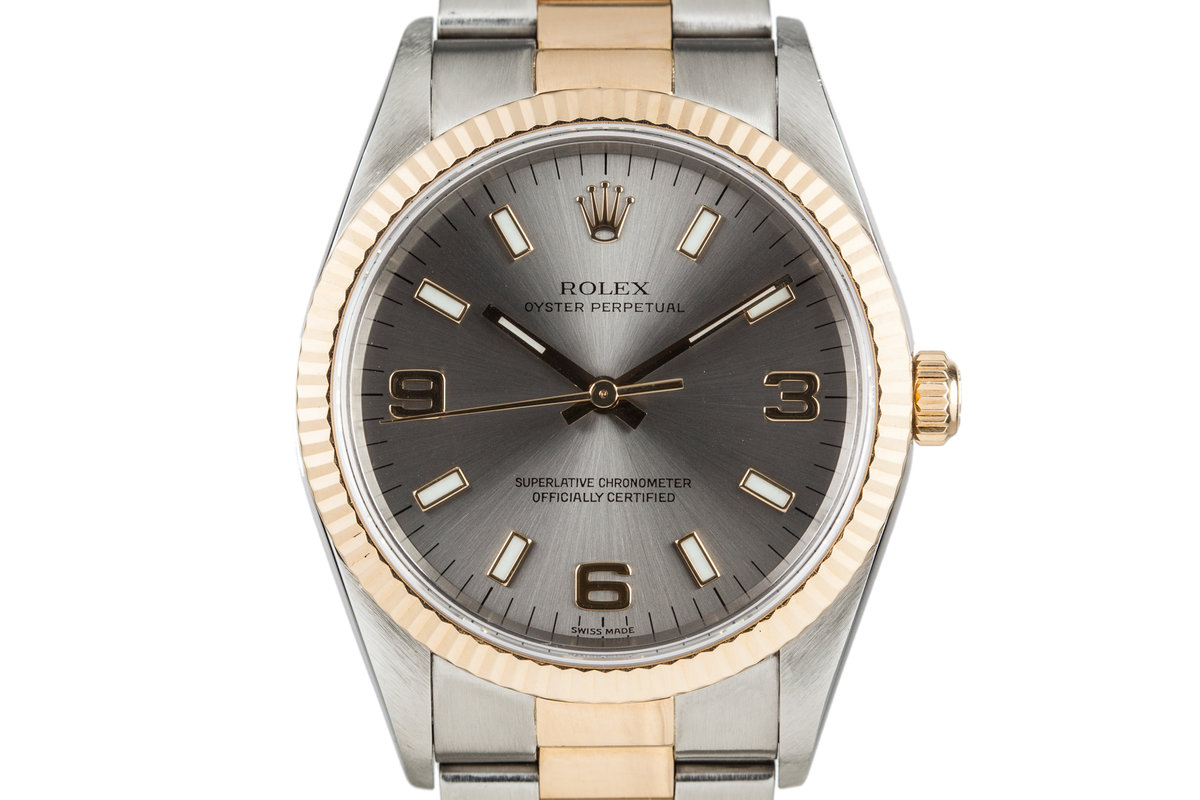 1999 Rolex Oyster Perpetual 14233 Grey Dial photo, #0