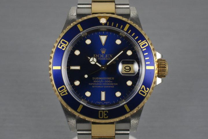 2000 Rolex Two Tone Submariner 16613 photo