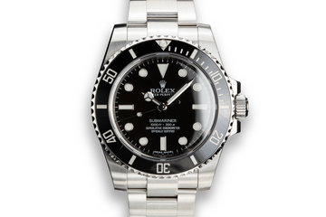 Rolex Submariner 114060 with Box and Service Papers photo