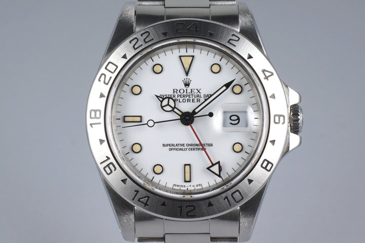 1991 Rolex Explorer II 16570 White Dial photo