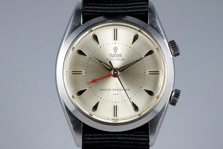 1964 Tudor Advisor 7926 Silver UNDERLINE Dial with Service Papers photo