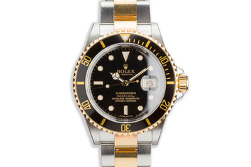 2005 Rolex Two-Tone Submariner 16613 T Black Dial photo