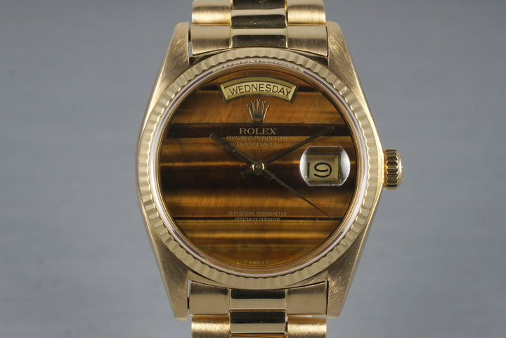 1979 Rolex YG Day-Date 18038 with Tiger Eye Dial photo