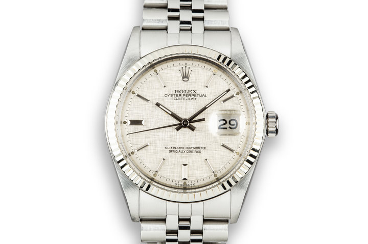 1976 Rolex DateJust 1601 with Silver Linen Sigma Dial photo