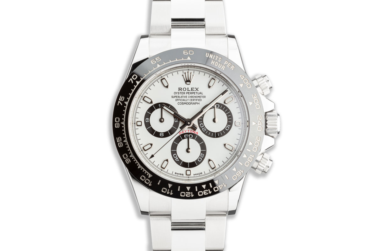 2017 Rolex Daytona 116500LN White Dial with Box and Card photo, #0