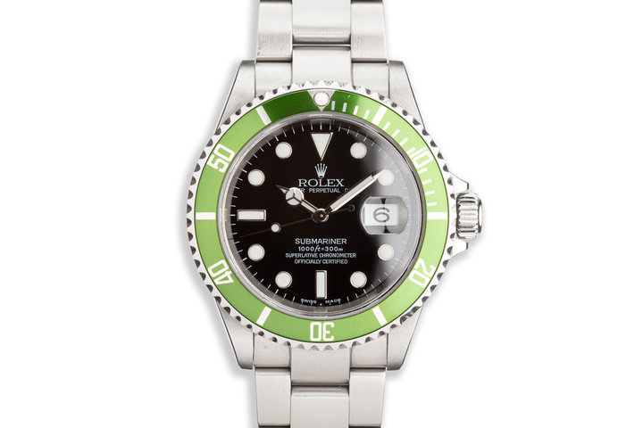 2005 Rolex Green Submariner 16610T with Box and Papers photo