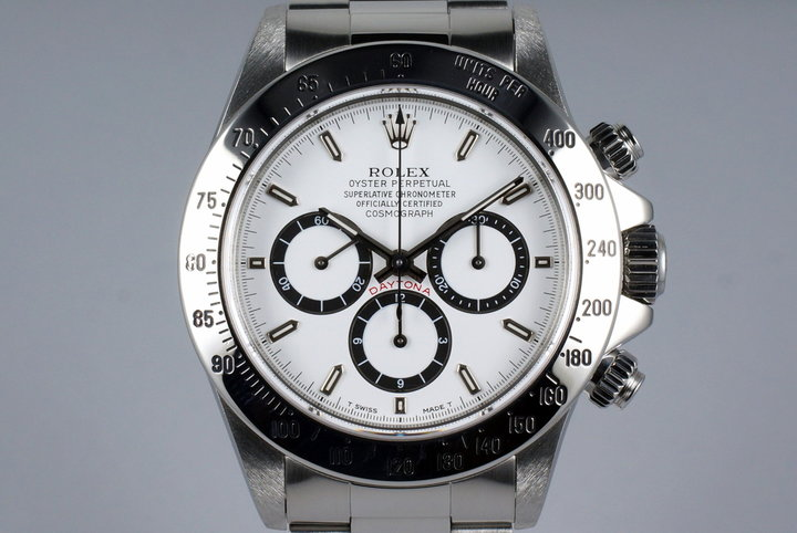 1994 Rolex Zenith Daytona 16520 White 'Inverted 6' Dial with Box and Papers photo