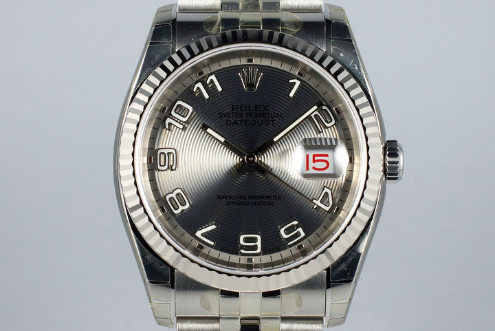 2005 Rolex DateJust 116234 Gray Arabic Dial MINT photo