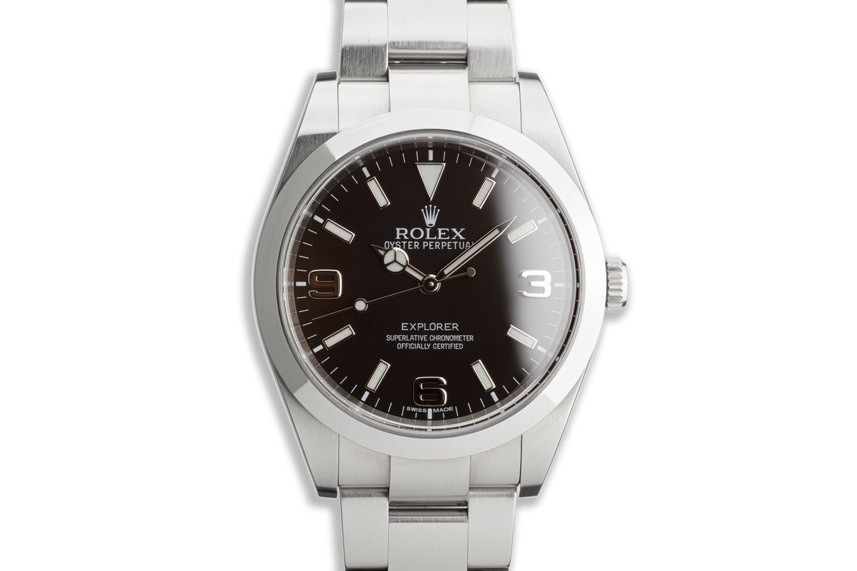 2014 Rolex Explorer 214270 39mm Mark I Dial with Box and Card photo, #0