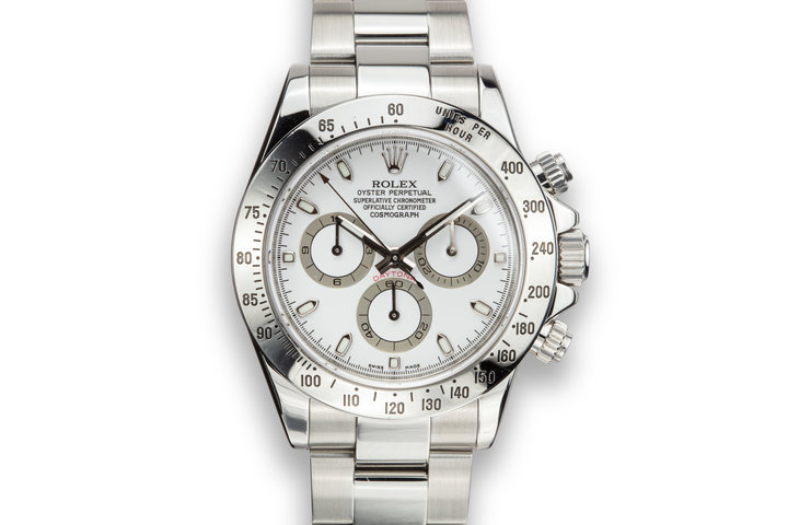 2008 Rolex Daytona 116520 White Dial photo