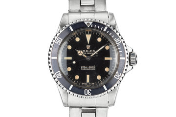 """1966 Rolex Submariner 5513 with """"Bart Simpson"""" Gilt Dial photo"""
