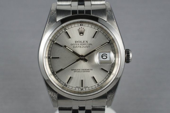2002 Rolex Datejust 16200 with Box and Papers photo