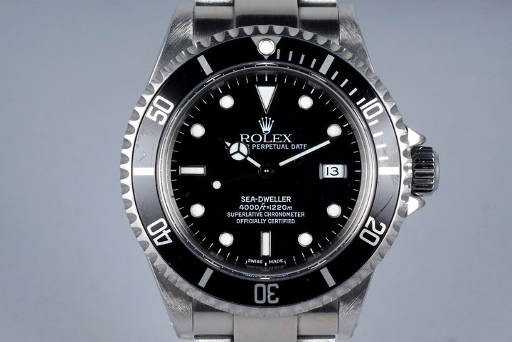 2001 Rolex Sea Dweller 16600 with Box and Papers photo