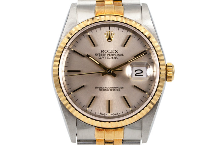 1991 Rolex Two Tone DateJust 16233 Silver Dial photo