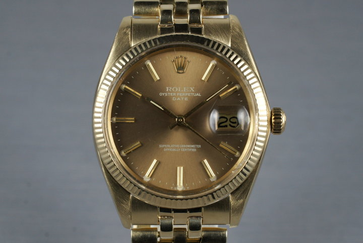 1978 Rolex 14K Date 1501 with Brown Dial photo