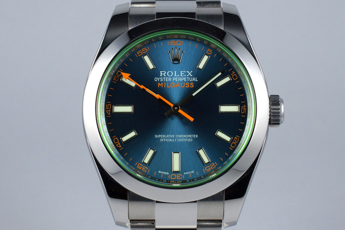 2016 Rolex Milgauss 116400GV with Box and Papers photo, #0