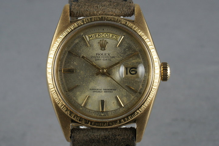1968 Rolex 18K YG Bark President 1807 photo