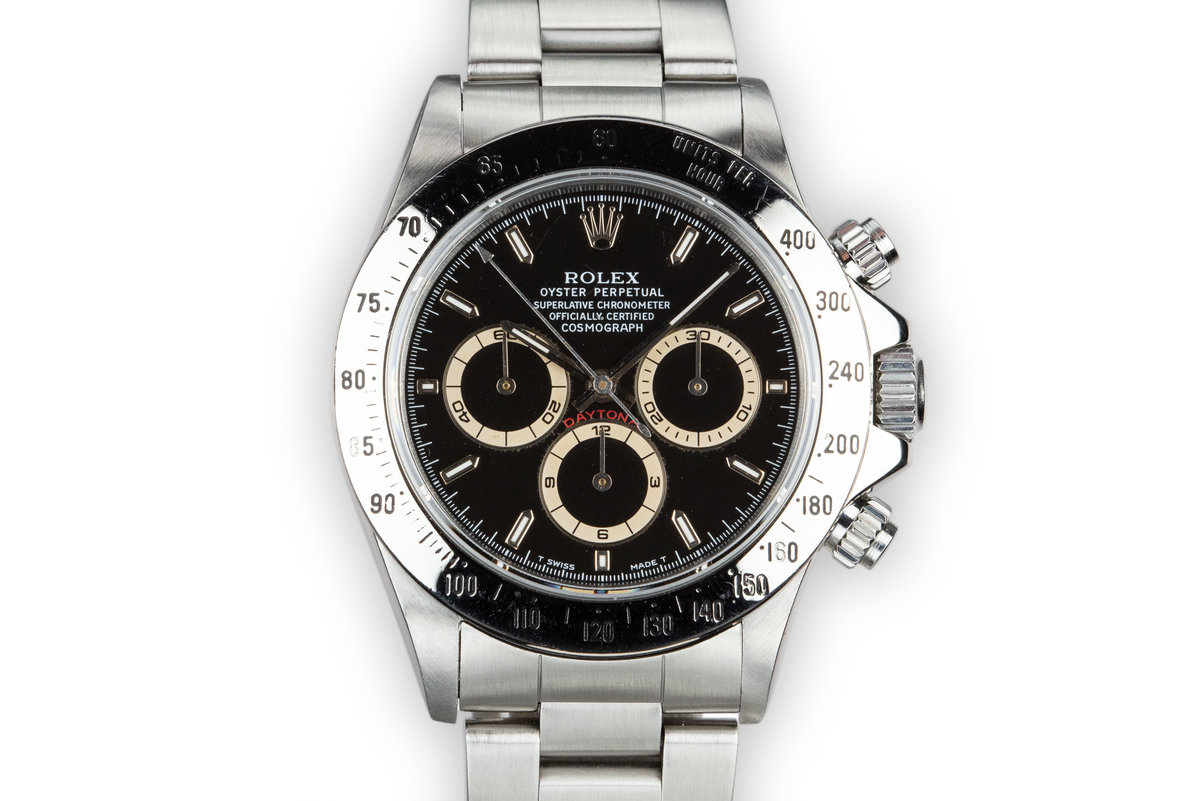 1991 Rolex Zenith Daytona 16520 Black Dial photo, #0