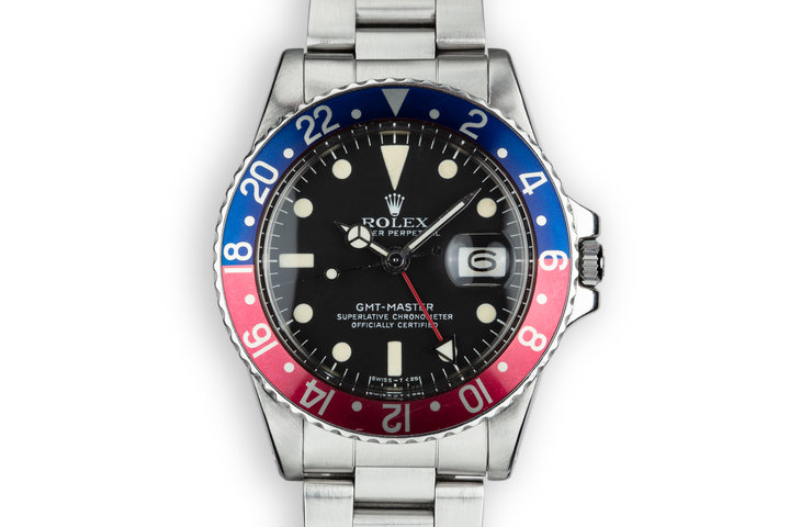 """1978 Rolex GMT-Master 1675 """"Pepsi"""" with Box and Papers photo"""