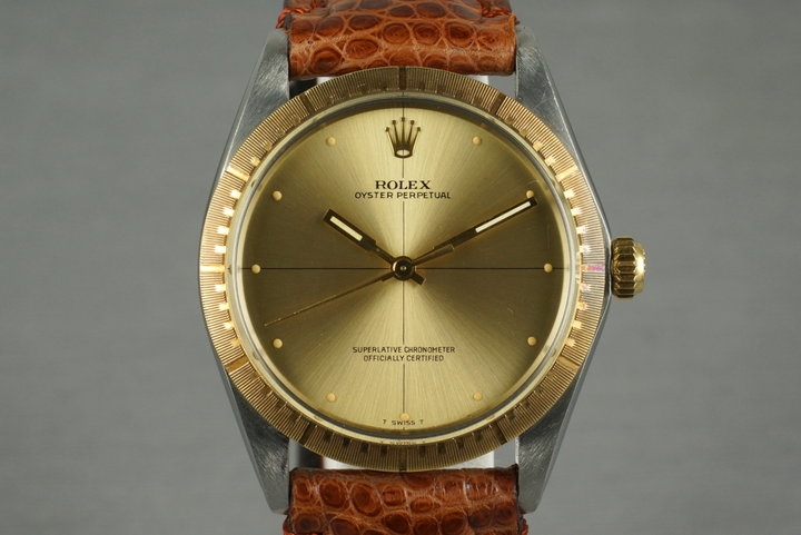 1969 Rolex Two Tone Oyster Perpetual 1038 Zephyr Dial and Bezel photo