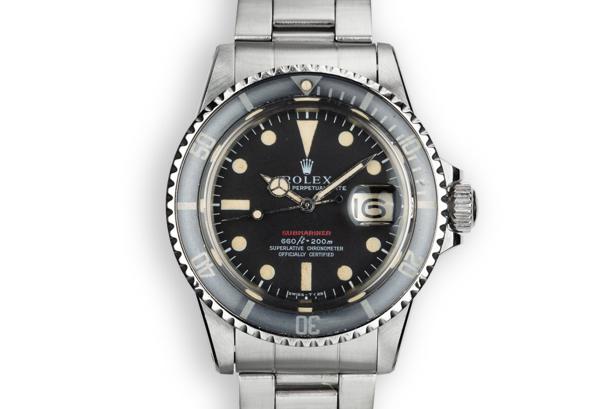 1972 Rolex Red Submariner 1680 MK IV Dial photo, #0