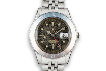 "1959 Rolex GMT-Master 6542 ""Spider Cracked"" Gilt Dial photo"