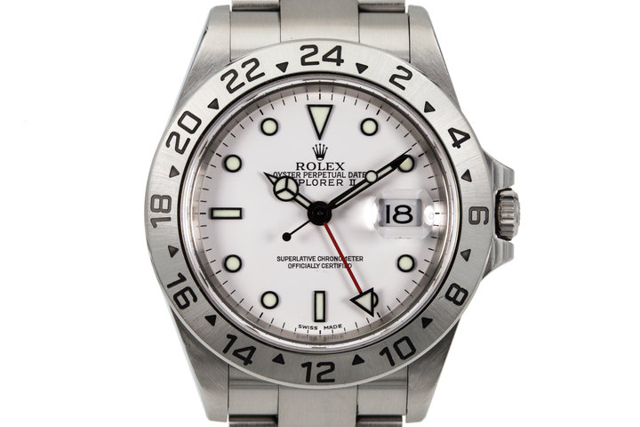 2003 Rolex Explorer II 16570 White Dial photo