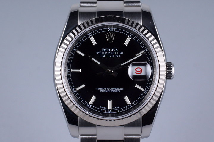 2006 Rolex DateJust 116234 Black Dial with Box photo