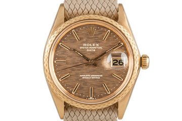Rolex Date 1514 with Brown Mosaic Dial photo