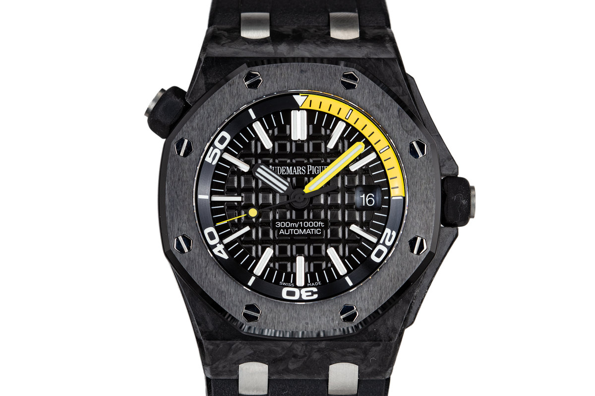 2013 CarbonFiber Audemars Piguet Royal Oak Offshore Diver 15706 with Box and Papers photo, #0