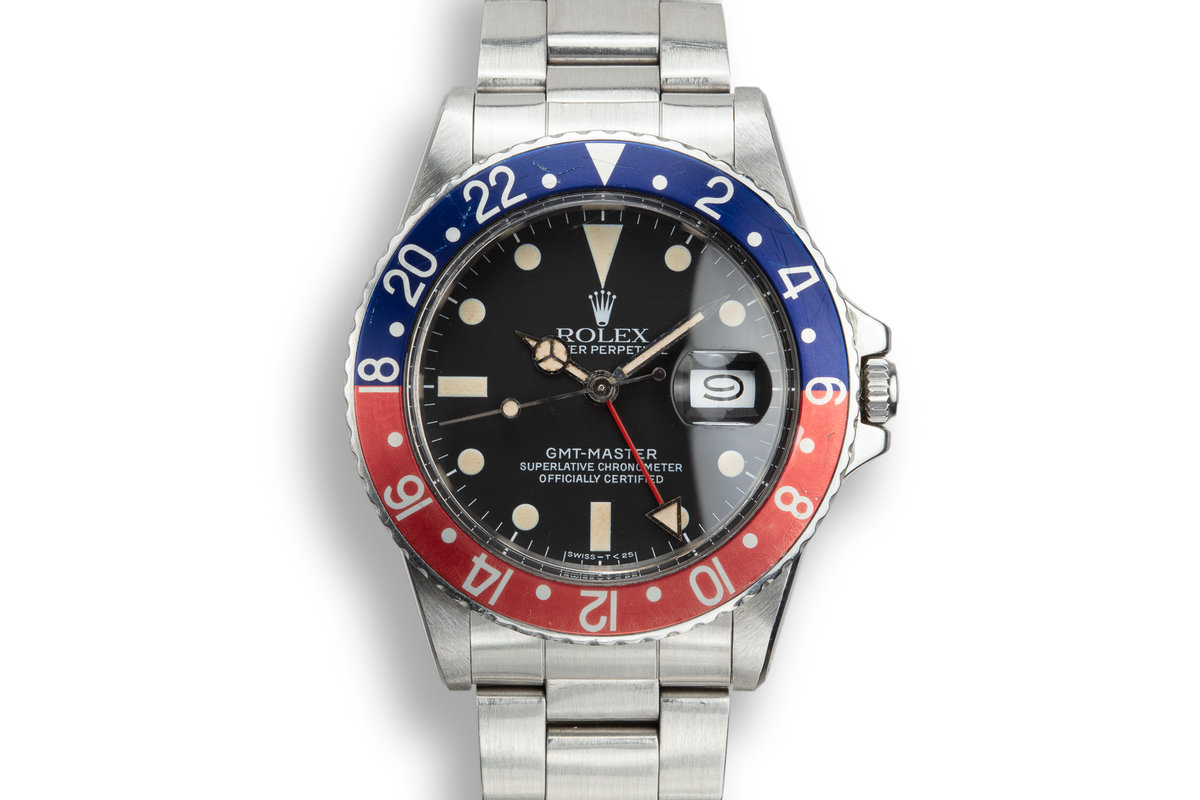 "1981 Rolex GMT-Master 16750 Matte Dial with ""Pepsi"" Bezel Insert photo, #0"