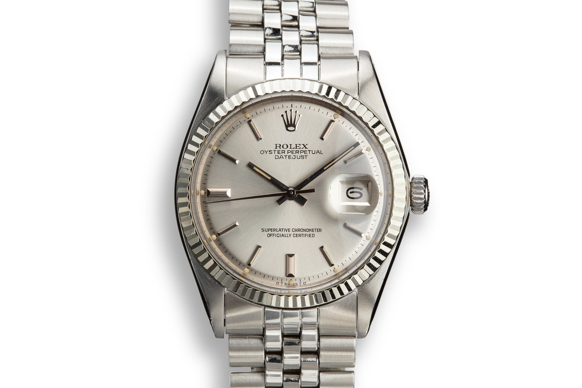 1973 Rolex DateJust 1601 Silver Sigma Dial photo, #0