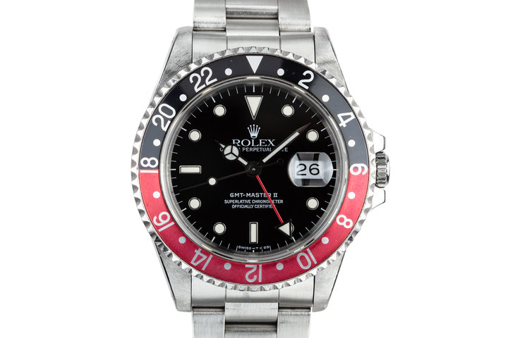 """1989 Rolex GMT-Master II 16710 """"Coke"""" with Box and Papers photo"""