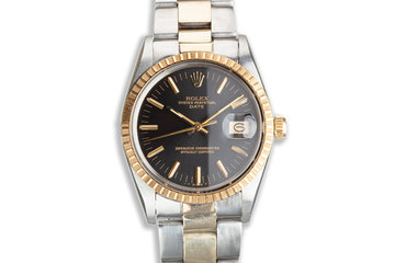 1985 Two-Tone Oyster Perpetual Date with Black Dial photo