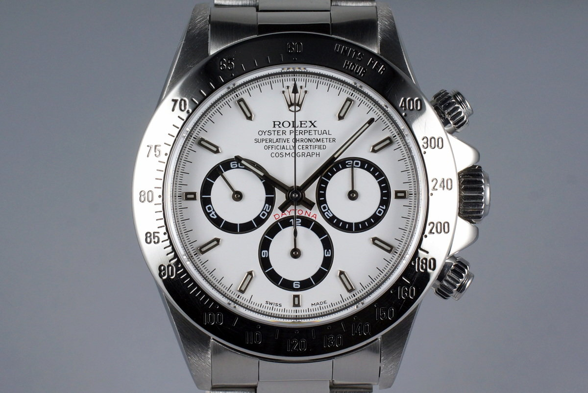 1995 Rolex SS Zenith Daytona 16520 White Dial with Box and RSC Papers photo, #0