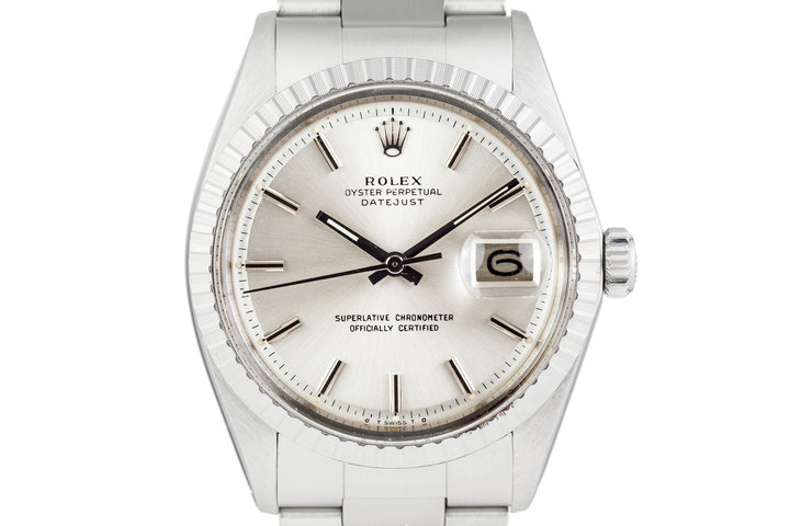 1973 Rolex DateJust 1603 Silver Dial with Service Papers photo