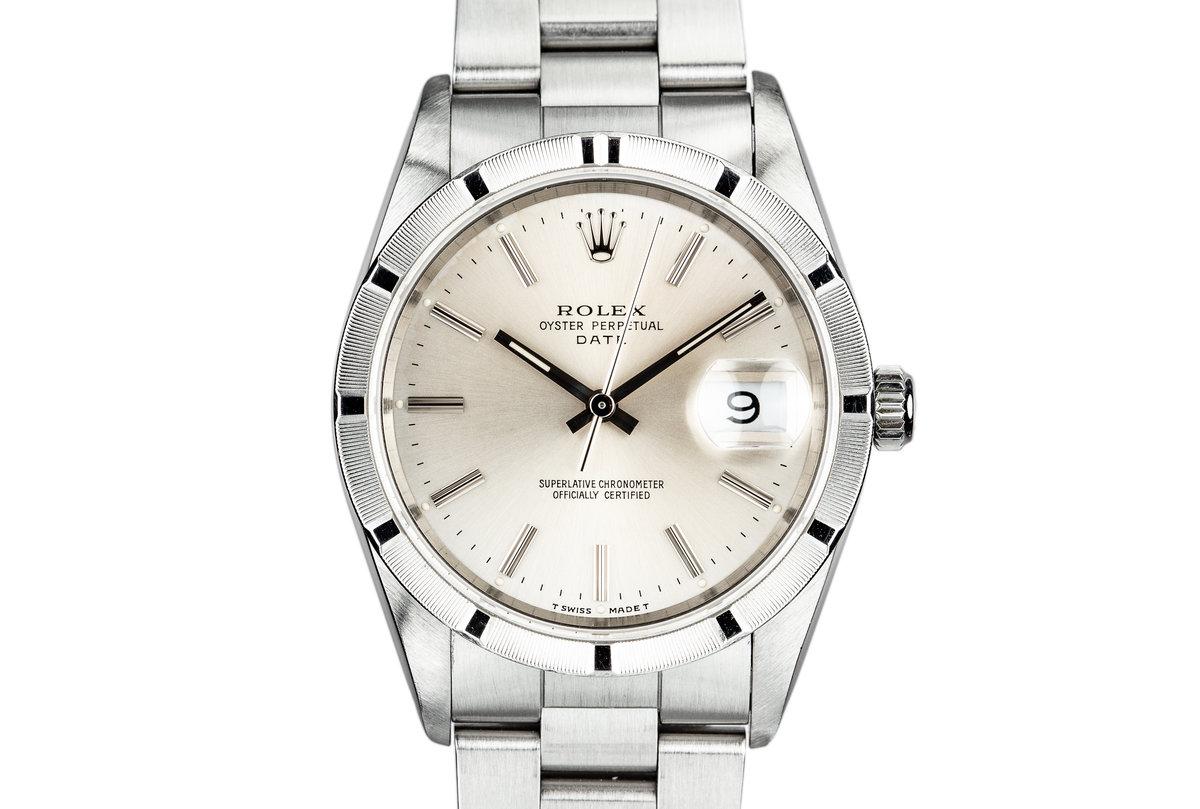 1991 Rolex Date 15210 Silver Dial photo, #0