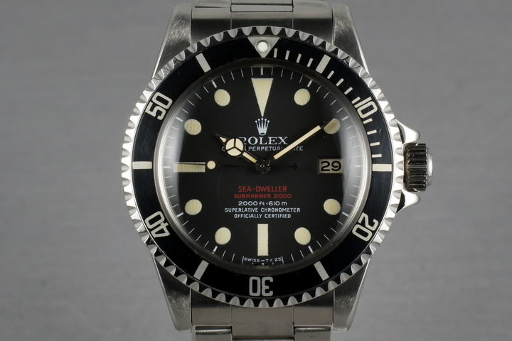 Rolex Double Red Sea Dweller Ref: 1665 Mark III with punched papers photo